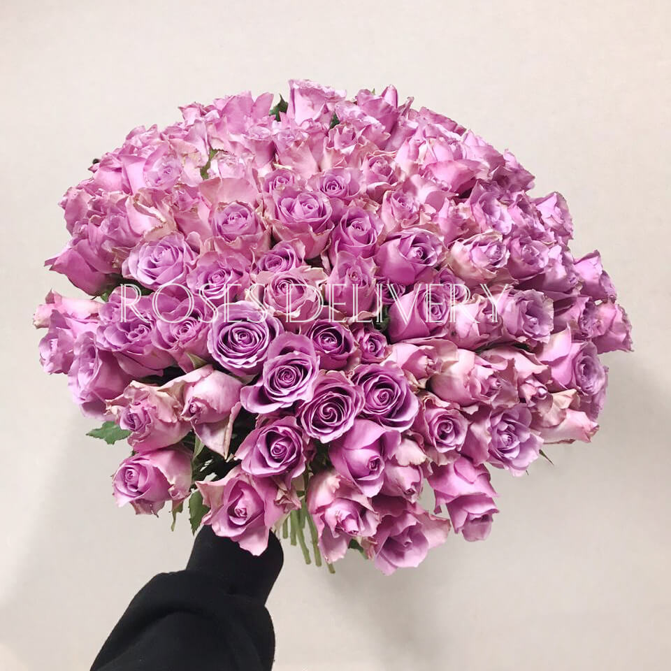 Букет 101 «Фиолетовая Роза» 40см