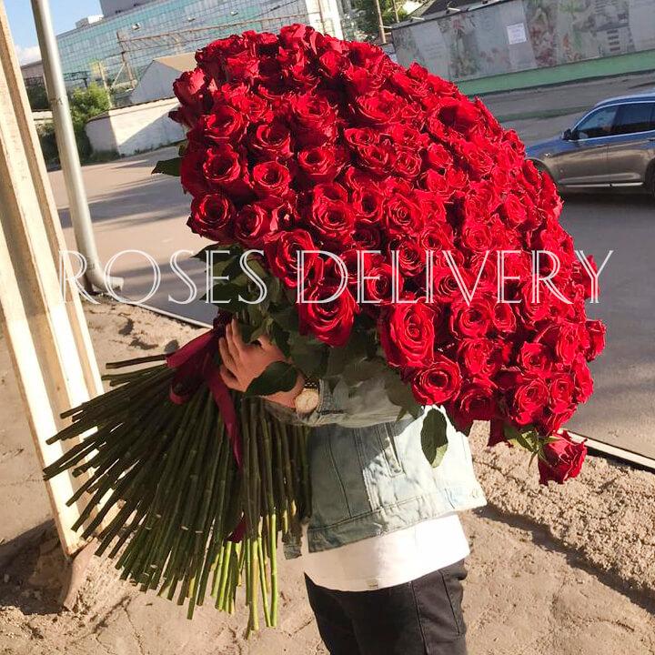 Букет 301 «Красная Роза» 100см