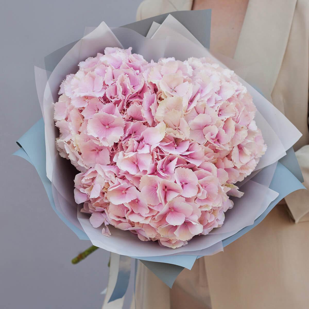 Букет 3 «Розовые Гортензии» Blue 50см