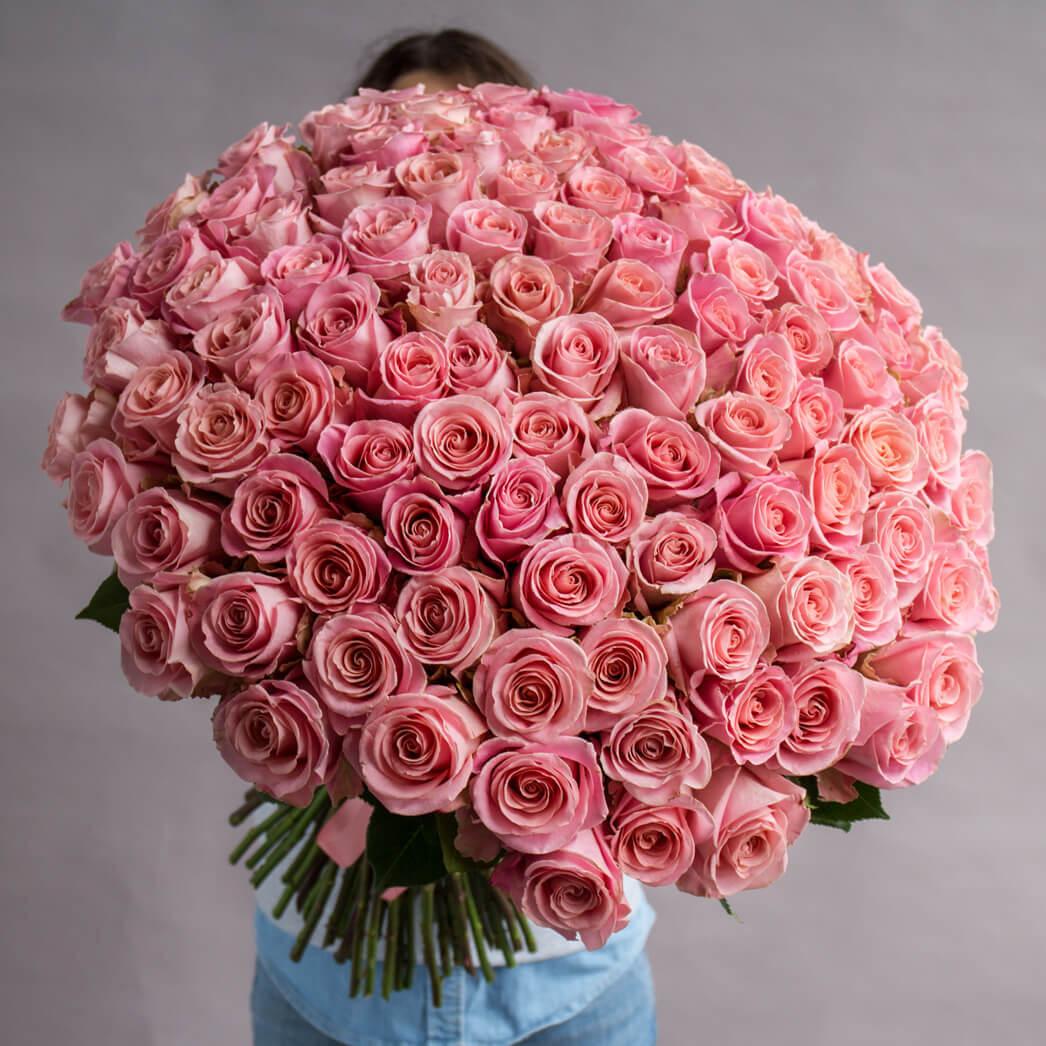 Букет 101 «Роза Хермоса» 50см