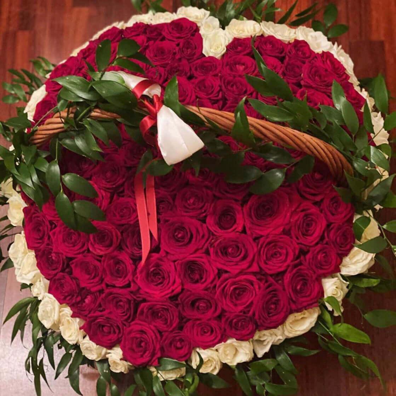 Корзина 151 «Красная Роза» Сердце