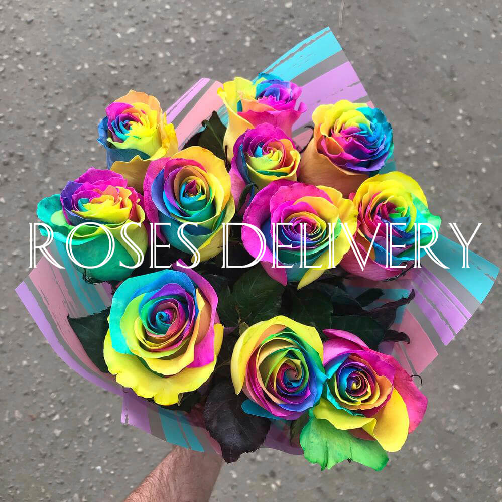 Букет 11 «Радужных Роз»