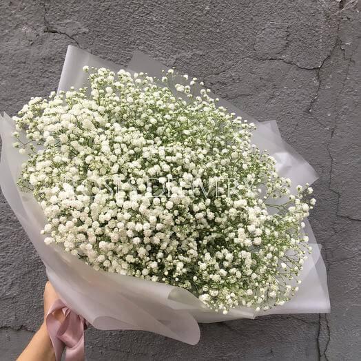 Букет 15 «Гипсофила» White 60см