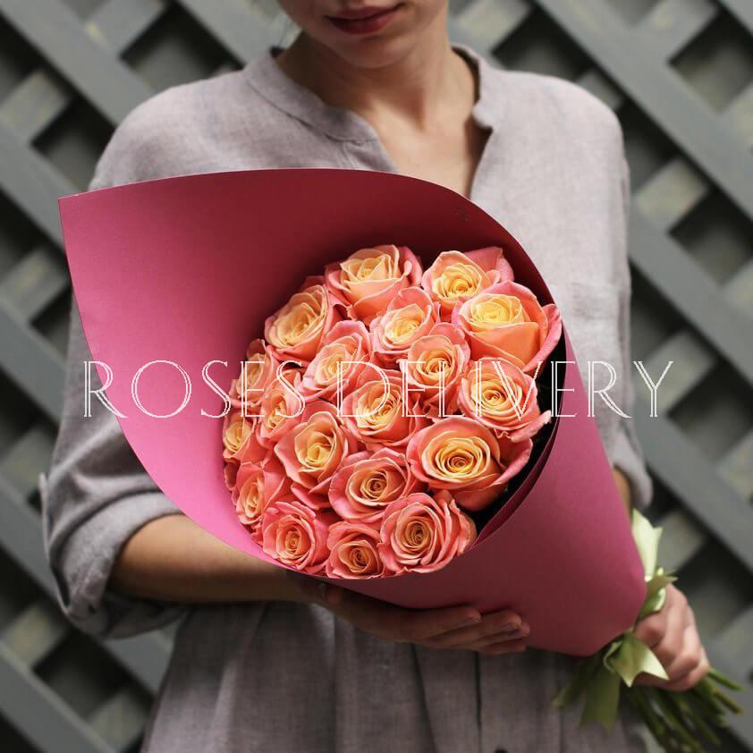Букет 19 «Мисс Пигги» Pink 55см