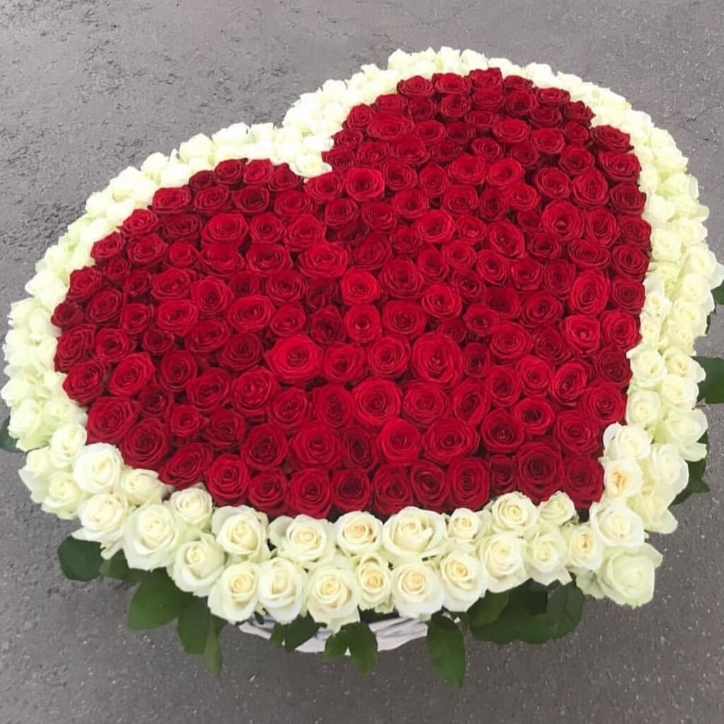 Корзина 501 «Красная Роза Сердце»