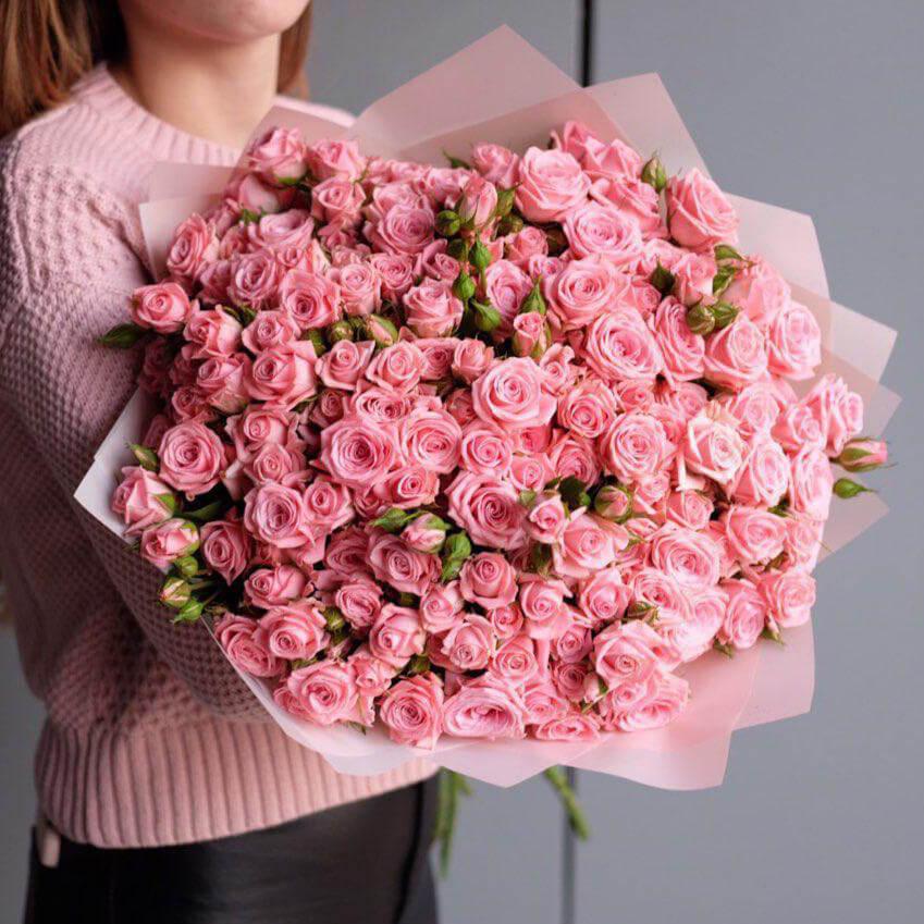 Букет 49 «Пинк Одилия» Pink 55см
