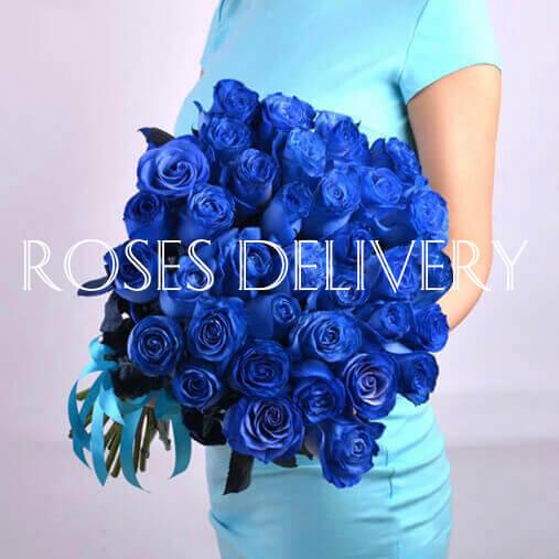 Букет 35 «Синих Роз»