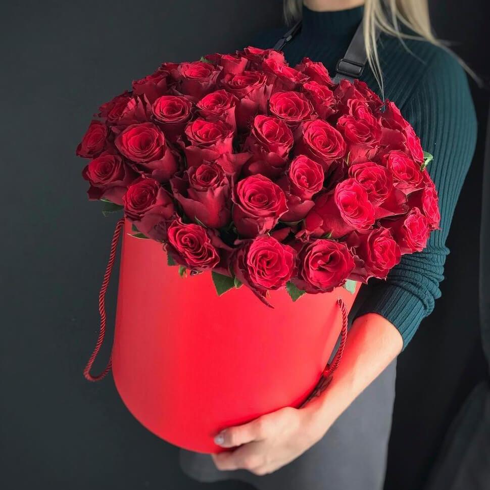 Коробка 45 «Красных Роз» Red