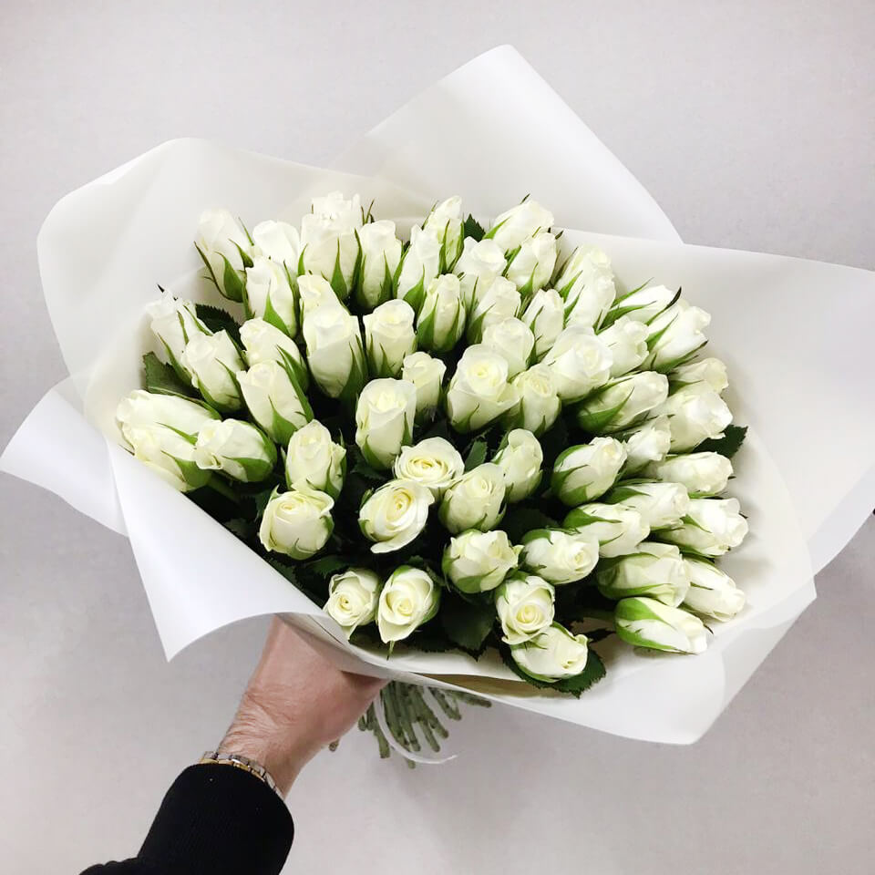 Букет 59 «Белых Роз» White 40см