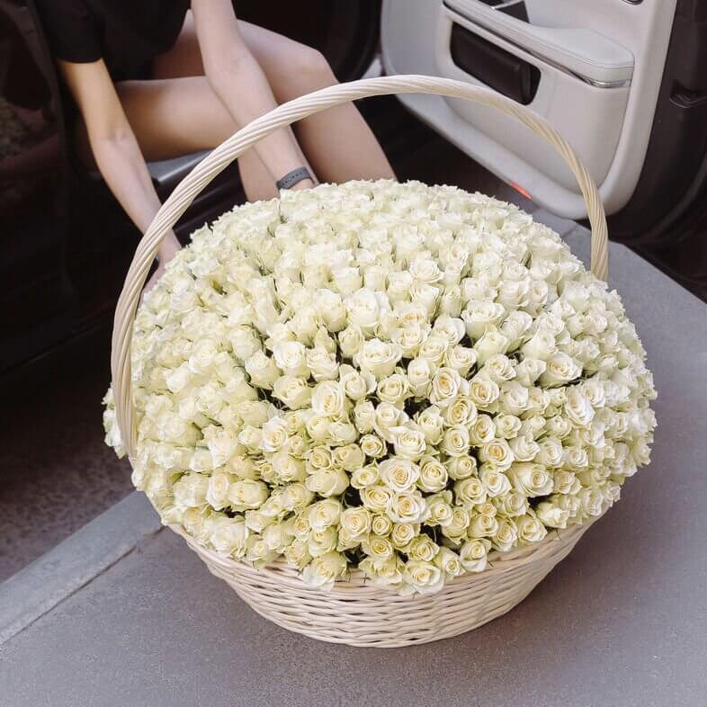 Корзина 501 «Белая Роза»