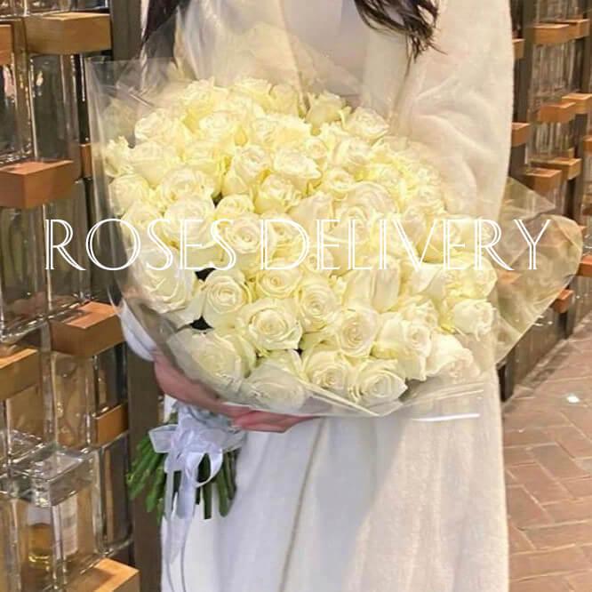 Букет 45 «Белых Роз»