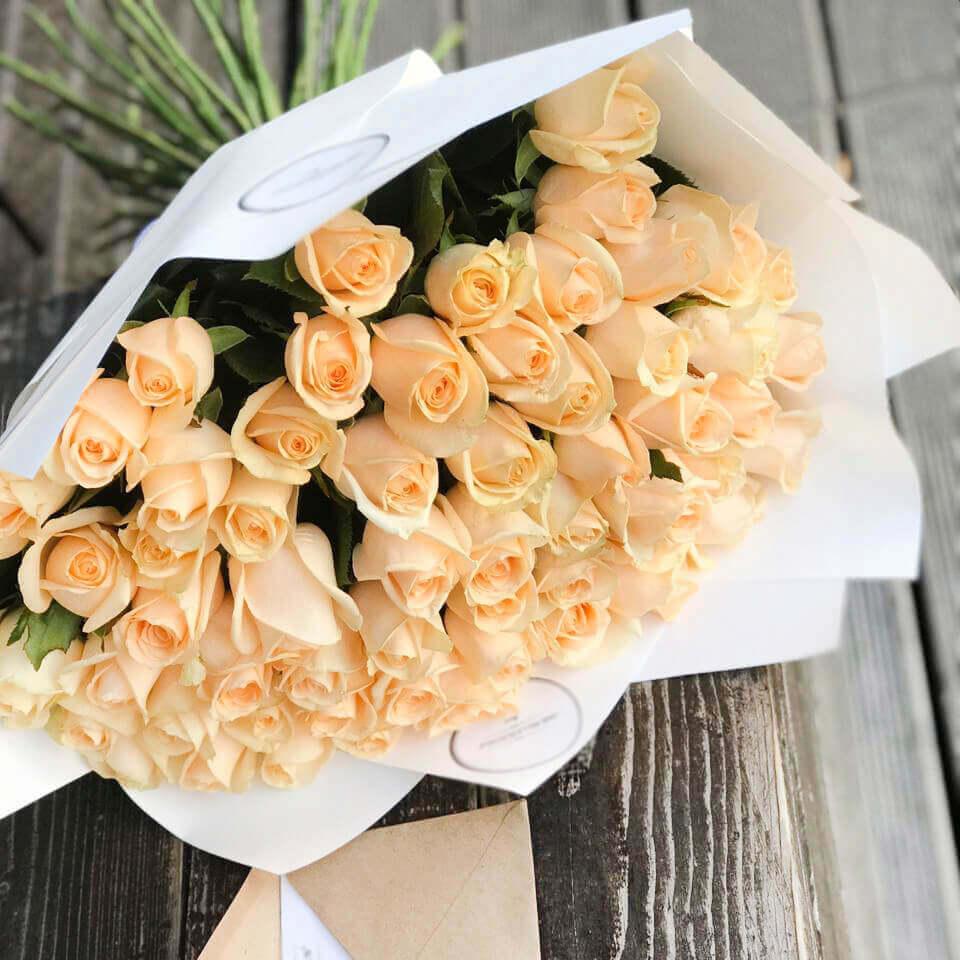 Букет 51 «Кремовая Роза» White