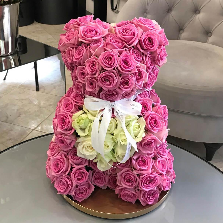 Медведь из Розовых Роз 301шт
