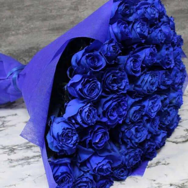 Букет 51 «Синяя Роза» Blue