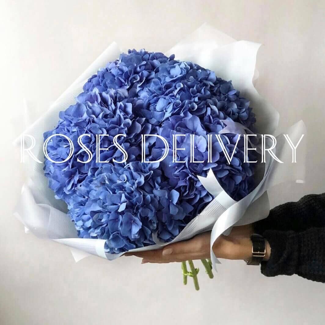 Букет 5 «Синих Гортензий» White