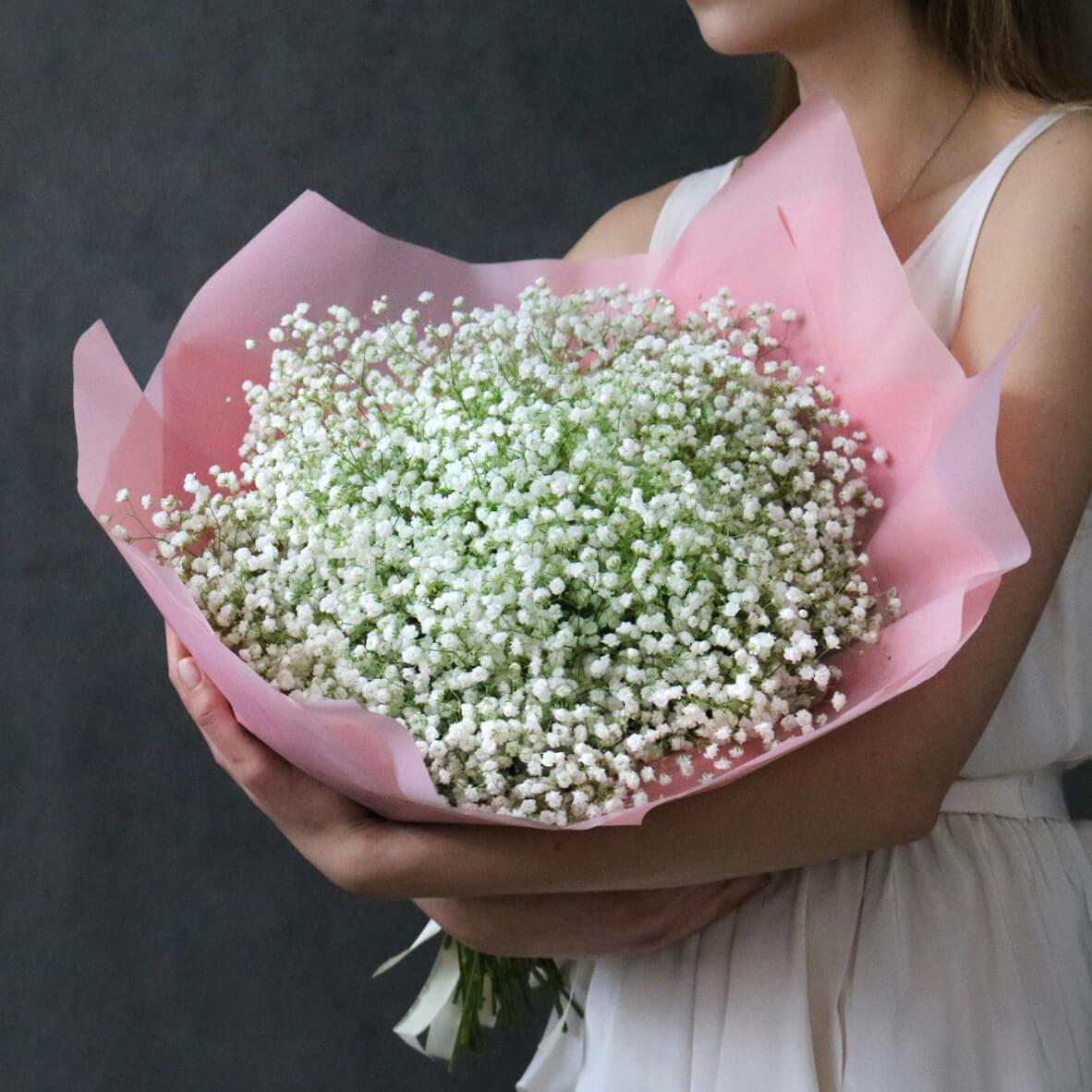 Букет 25 «Гипсофила» Pink 55см