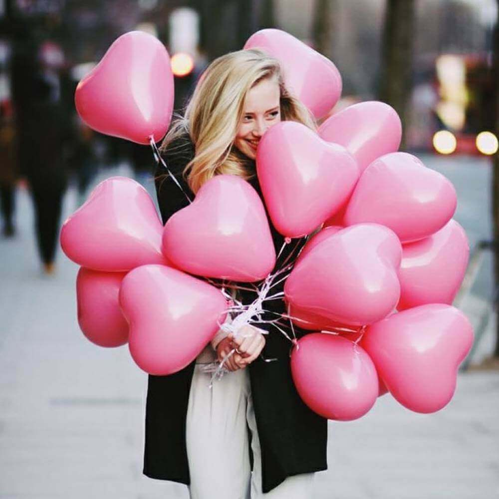Розовые шары «Моника»
