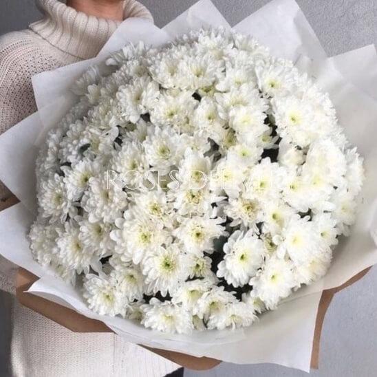 Букет 35 «Белых Хризантем» White 60см