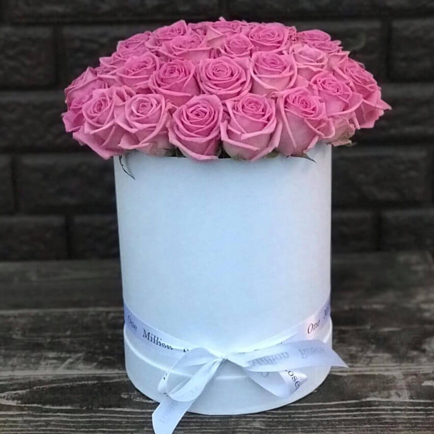 Коробка 39 «Розовых Роз» White