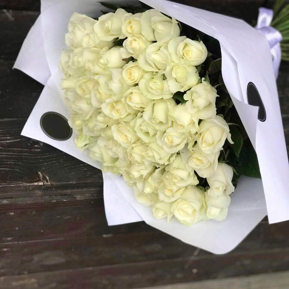 Букет 51 «Белая Роза» White