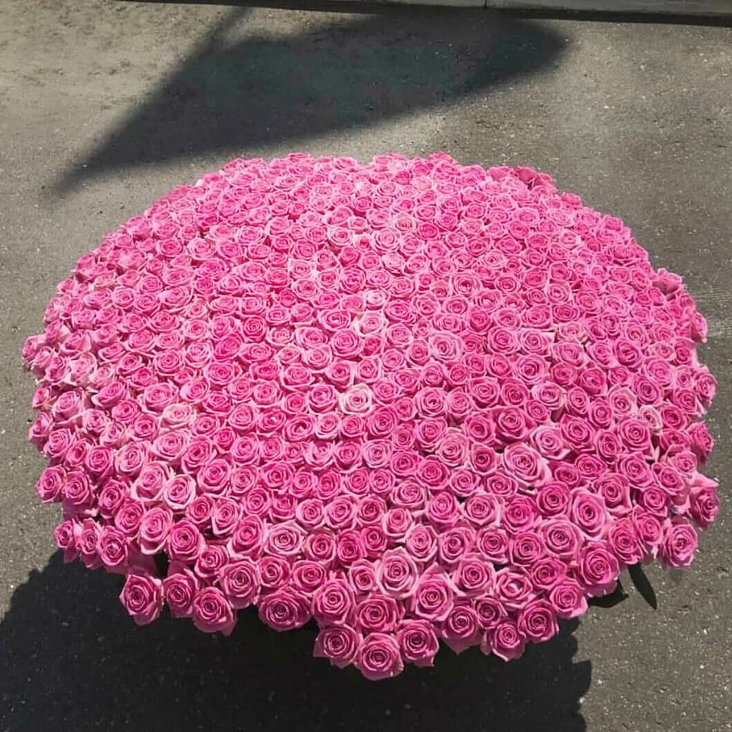 Корзина 1001 «Розовая Роза»