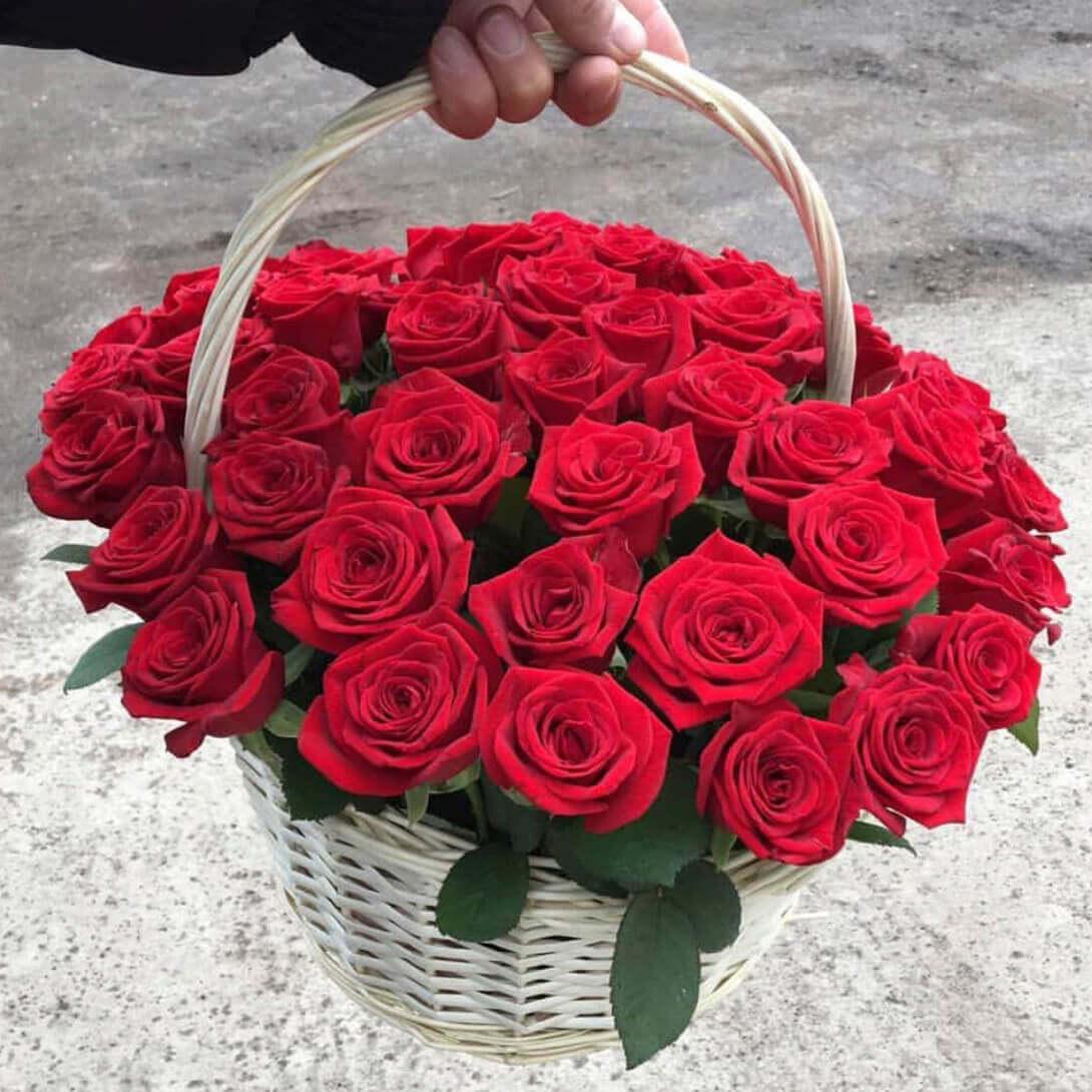 Корзина 45 «Красных Роз»
