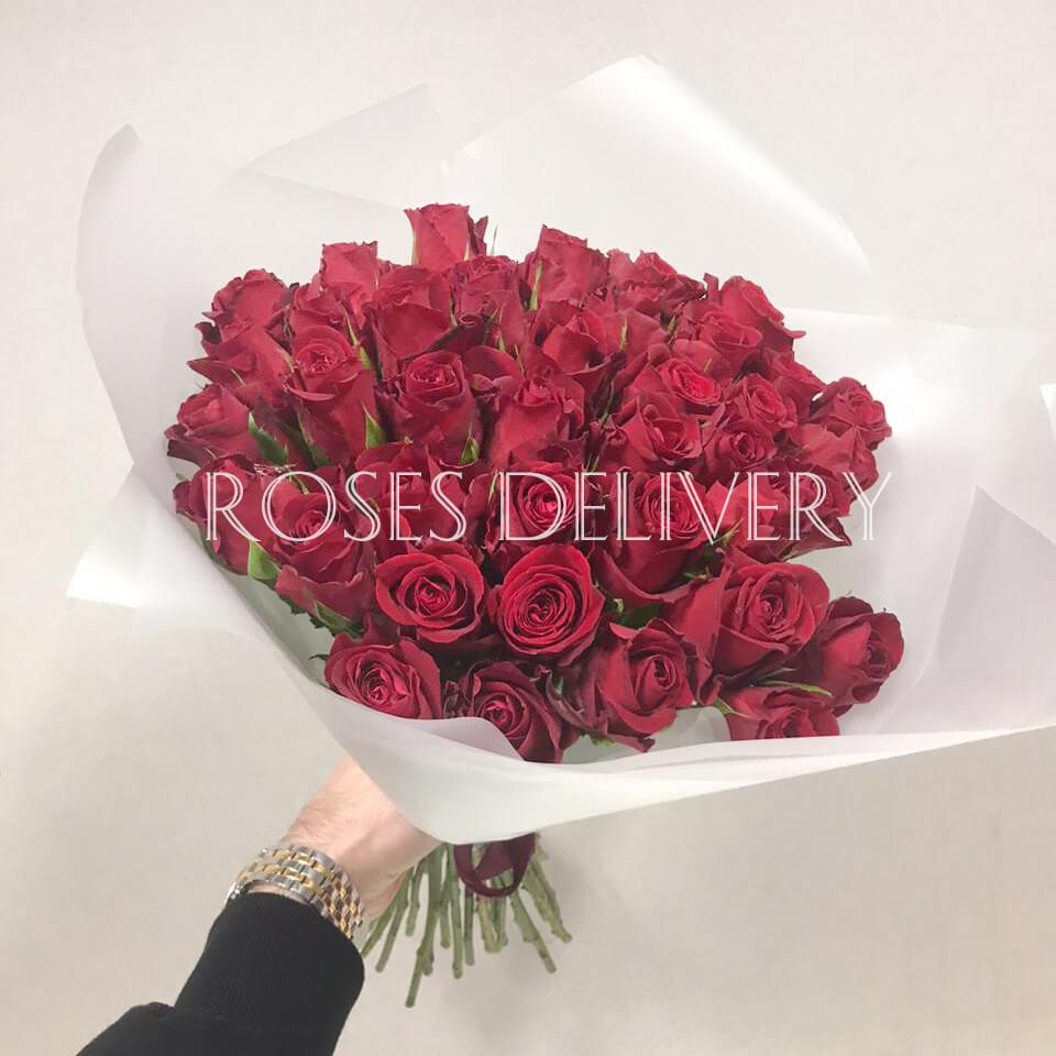 Букет 39 «Красных Роз» White 40см
