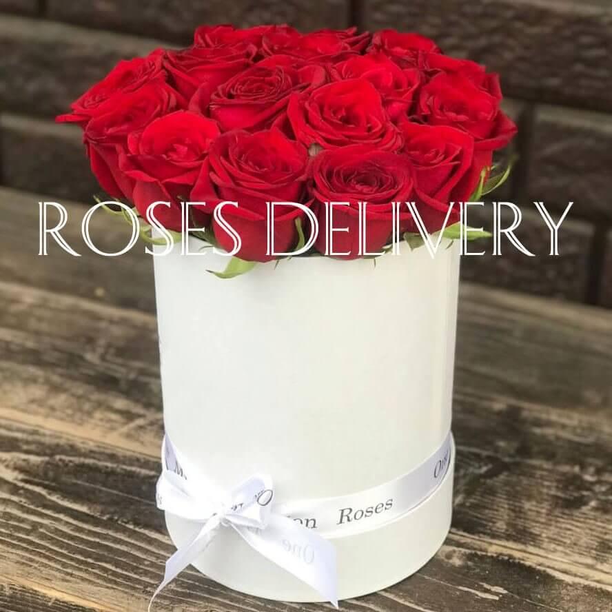 Коробка 15 «Красных Роз» White