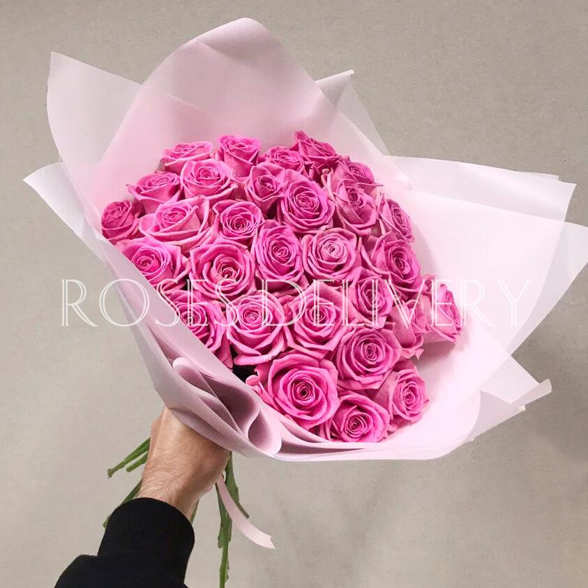 Букет 29 «Розовых Роз» Pink 55см