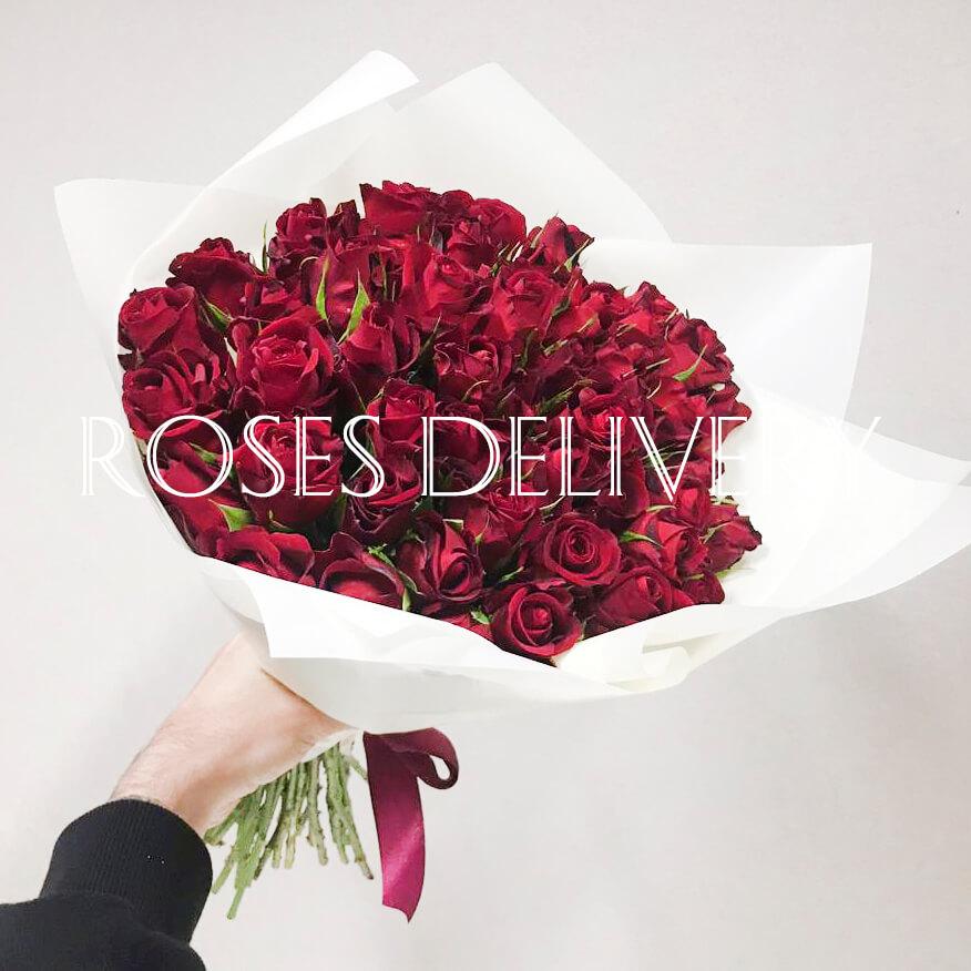 Букет 59 «Красных Роз» White 40см