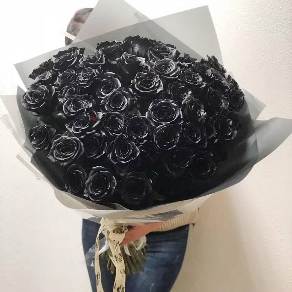 Букет 35 «Черных Роз» Grey 60см