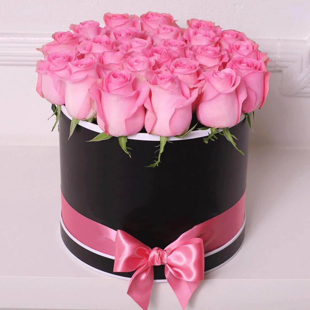 Коробка 15 «Розовых Роз» Black