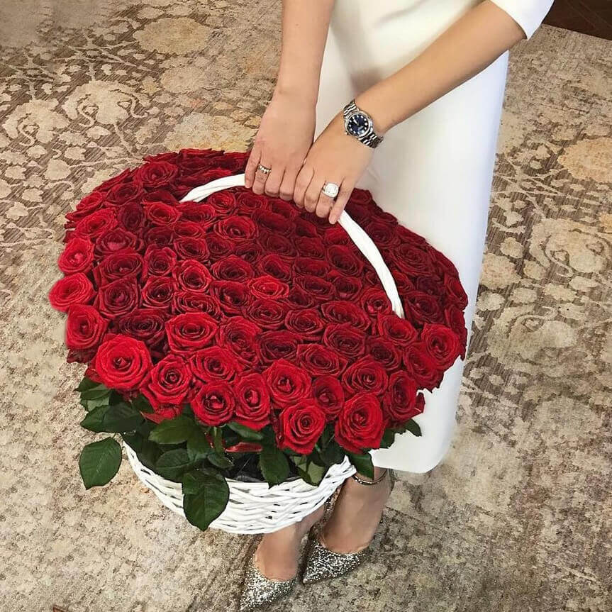 Корзина 101 «Красная Роза»