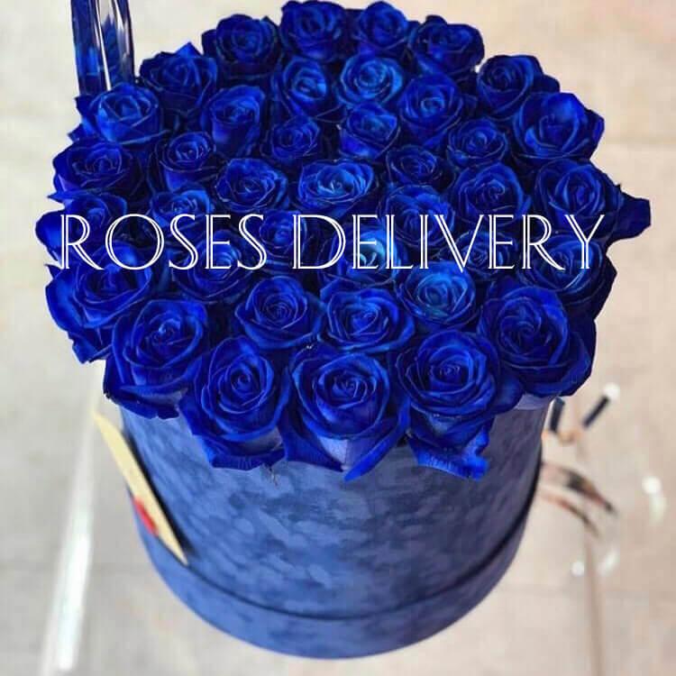 Коробка 35 «Синих Роз» Blue